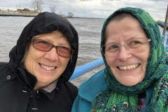 Sue and I on Lake Michigan
