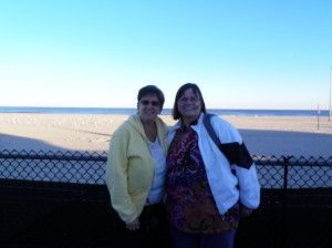 Lori and I at the Beach: I can't believe I forgot a pic of Jeff later on, but at least I got one