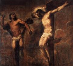 The Thief on the Cross by Tiziano Vecelli, Italy, 1566