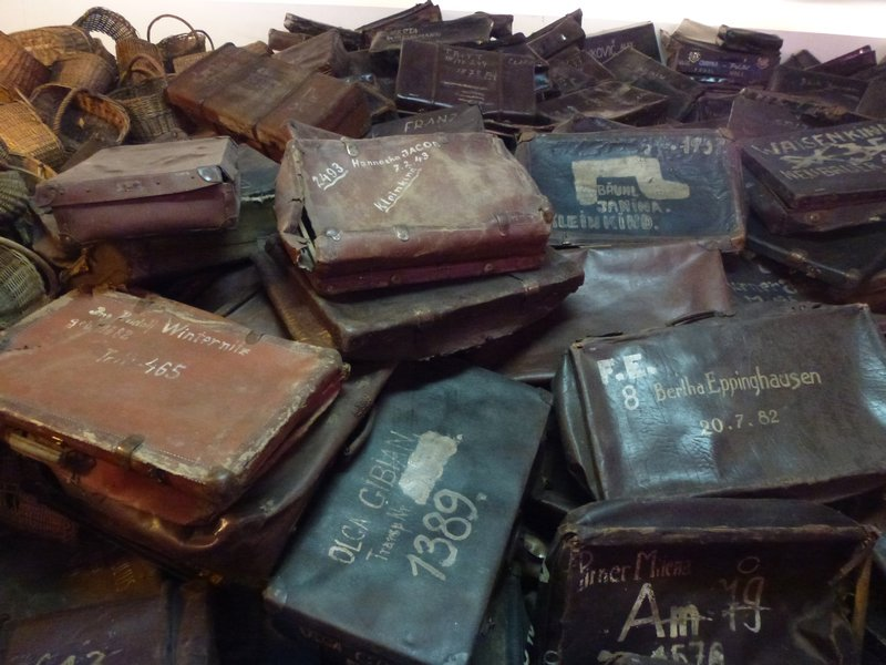 Suitcases in Auschwitz Taken from https://www.travelblog.org/Photos/6543828