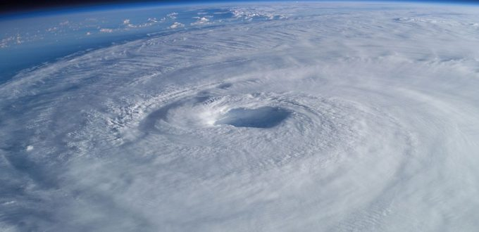 Eye of a storm (from a hurricaine)